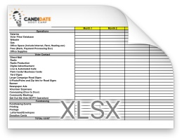 sample political campaign budget excel template candidate boot camp
